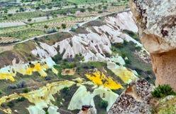 Rock formations in Cappadocia, Anatolia, Turkey. Goreme national Royalty Free Stock Photography