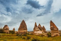 Rock formations of Cappadocia Royalty Free Stock Images