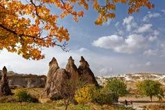 Rock formations of Cappadocia Royalty Free Stock Photos
