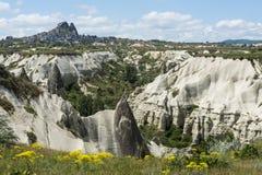 Rock formations of Cappadocia near Uchisar stock images
