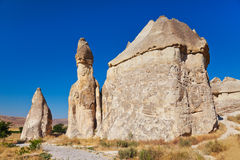 Rock formations in Cappadocia Turkey Royalty Free Stock Photo