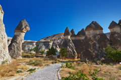 Rock formations at Cappadocia Turkey Stock Photography