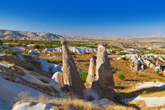 Rock formations in Cappadocia Turkey Royalty Free Stock Photos