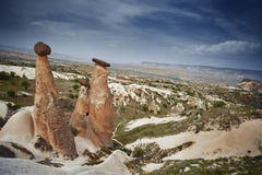 Rock formations of Cappadocia Stock Image