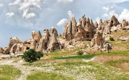 Rock formations in Cappadocia, Turkey. Stock Photo