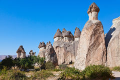 Rock formations in Cappadocia Turkey Stock Photography