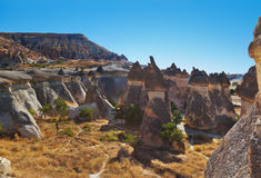 Rock formations in Cappadocia Turkey Royalty Free Stock Photography