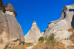 Rock formations in Cappadocia Turkey Stock Images