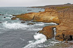 Rock Formations on the Central Coast of California Stock Photos