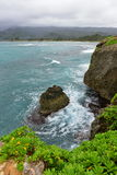 Rock formations and cliffs at Laie Point State Wayside Park Stock Photo