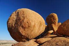 Rock formations close to Spitzkoppe Royalty Free Stock Photo
