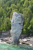 Rock Formations at the Coast, Flowerpot Island Stock Photos