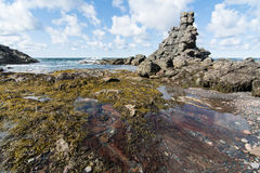 Rock Formations on the coast of Newfoundland and Labrador Stock Photos