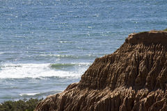 Rock Formations on Coast Royalty Free Stock Photography