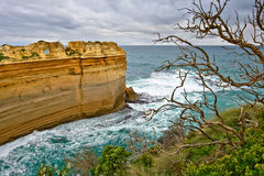 Rock formations at coastline. Great Ocean Road, Australia Royalty Free Stock Images