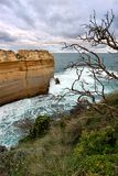 Rock formations at coastline, Great Ocean Road Royalty Free Stock Photo