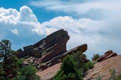 Rock formations in colorado Royalty Free Stock Photos