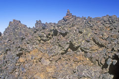 Rock Formations at Craters of the Moon National Monument, Idaho Stock Image
