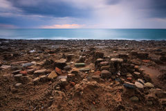 Rock formations in Crete, Greece. Royalty Free Stock Photography