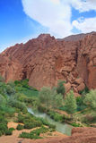 Rock formations in Dades Valley, Morocco Royalty Free Stock Image
