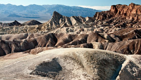 Rock formations at death valley, ca, usa Royalty Free Stock Photos