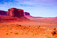 Rock Formations in the Desert. Rock formations on a cloudy day in Monument Valley, Utah Royalty Free Stock Photography