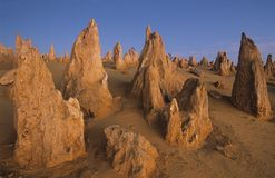 Rock formations in desert Stock Photography