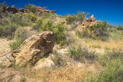 Rock Formations in Desert Land Stock Image