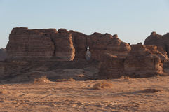Rock formations in the desert of Saudi Arabia Stock Photography
