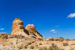 Rock Formations in desert Royalty Free Stock Images
