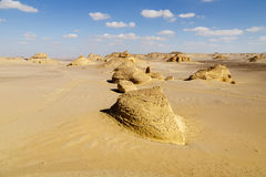 Rock formations. In the desert of Wadi Hitan (The Valley of Whales Royalty Free Stock Image