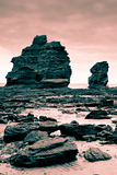 Rock formations filtered red Stock Photography