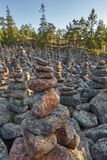 Rock formations in the finnish forest. Geta. Aland islands Stock Photos