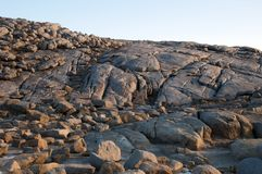 Rock formations at `The Gap` headland at Torndirrup National Park in late afternoon light royalty free stock image