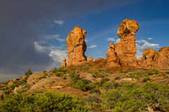 Rock Formations in Garden of Eden Stock Images
