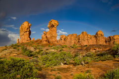 Rock Formations in Garden of Eden. Interesting rock formations in Utah's Arches National Park.  This area is called Garden of Eden Royalty Free Stock Photo