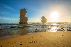 Rock formations of Gibson Steps, Australia Royalty Free Stock Images