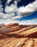 Rock formations at glen canyon Stock Photos