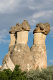 Rock formations in Goreme National Park. Cappadocia, Royalty Free Stock Photography