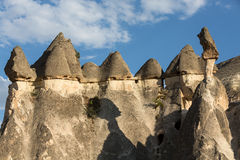 Rock formations in Goreme National Park. Stock Photo