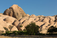 Rock formations in Goreme National Park. Cappadocia Stock Images