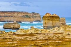 Rock formations on the Great Ocean Road, Australia Royalty Free Stock Photography