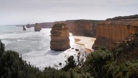 Rock formations on great ocean road