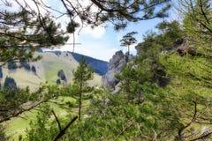 Rock formations - Haliny at Malino Brdo, Slovakia. Rock formations called Haliny at Malino Brdo, Slovakia Royalty Free Stock Photography