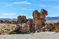 Rock formations in the high Andean plateau in Bolivia Stock Photos