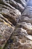 Rock formations at High Rocks, Tunbridge Wells, Kent, UK Stock Photos
