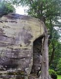 Rock formations at High Rocks, Tunbridge Wells, Kent, UK Stock Photography