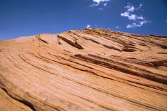 Rock formations in Horseshoe Bend, Arizona Royalty Free Stock Image