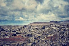 Rock formations in iceland Stock Photos