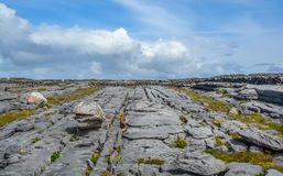 Rock formations in Inishmore, Aran Islands, Ireland. Inishmore, Aran Islands, Galway Bay, Ireland Royalty Free Stock Photos